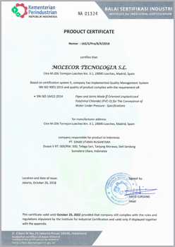Indonesian product certificate