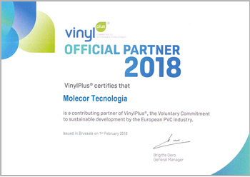 Certificate of Commitment to sustainable development Vinyl Plus