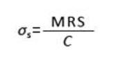 MRS, Safety coefficient, design stress