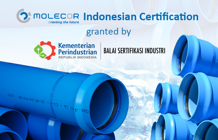 Molecor achieves SNI: the Indonesian Certification for TOM®