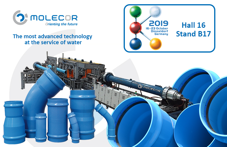 Molecor's exclusive technology and products, will be present at K2019 in Düsseldorf