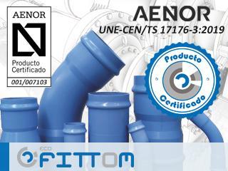 Molecor logra la primera certificación de producto para los accesorios ecoFITTOM® de PVC-O