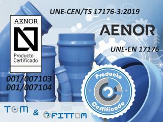 Molecor, primera empresa en conseguir la Certificación UNE-EN 17176 para sus tuberías TOM® y accesorios ecoFITTOM® de PVC Orientado