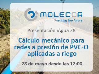 Molecor participa en la presentación de iAgua Magazine 28 con una exposición sobre Cálculo mecánico para redes a presión de PVC-O aplicadas a riego